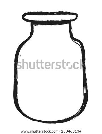 doodle blank glass jars, vector design elements - stock vector