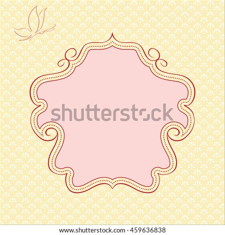 Doodle border on ornate background.