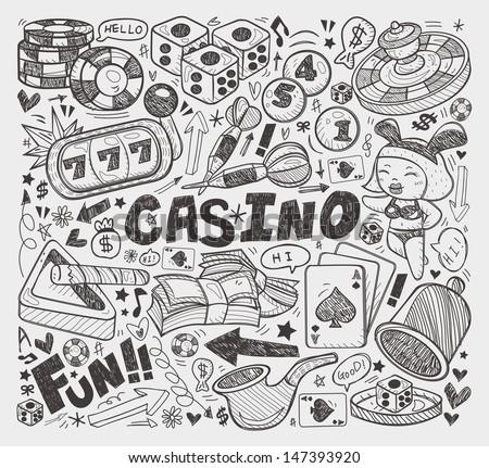 doodle casino element - stock vector