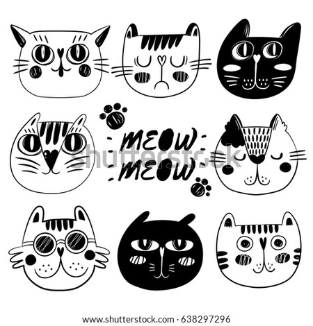 Pictures Of Drawn Cats