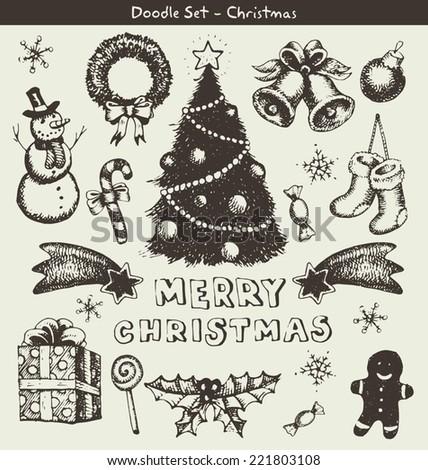 Doodle Christmas - stock vector