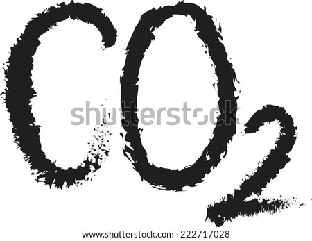 doodle CO2 vector - stock vector