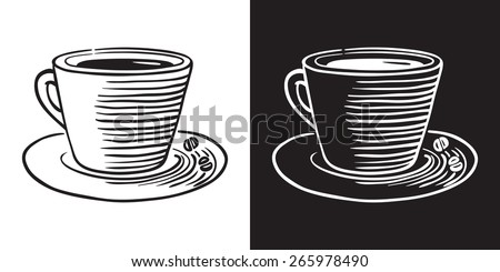Doodle coffee cup - stock vector