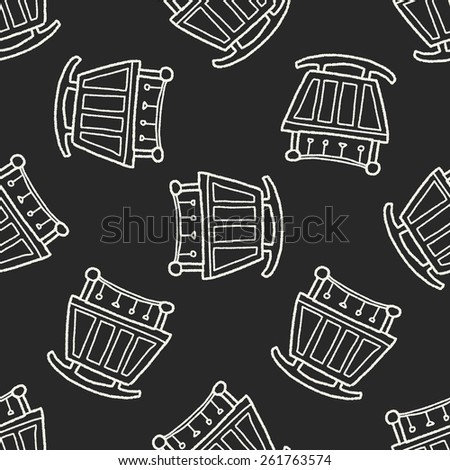 Doodle Cots seamless pattern background