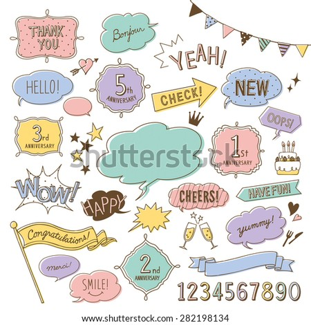 Doodle design elements - stock vector