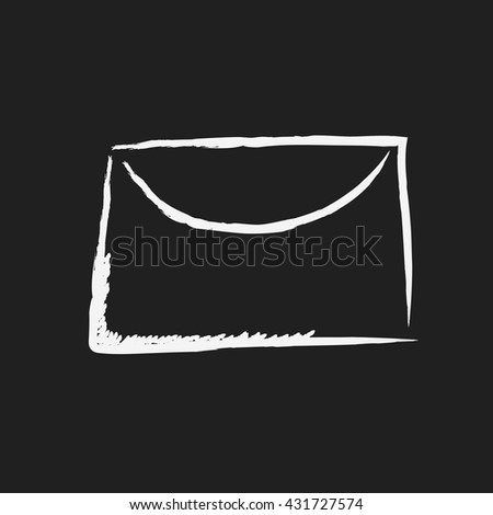 doodle drawing mail - stock vector