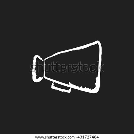 doodle drawing megaphone - stock vector