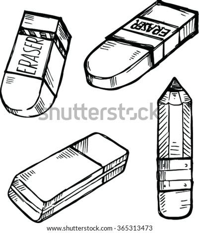 eraser clipart black and white. doodle eraser clipart black and white 2