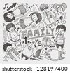 doodle family element - stock vector