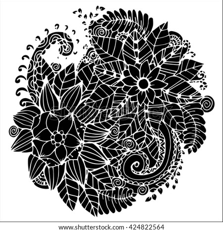 Seashells Zentangle Pattern Coloring Book Stock Vector 372552532