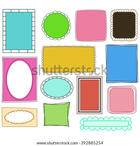 Doodle Frames and Borders Vector - stock vector