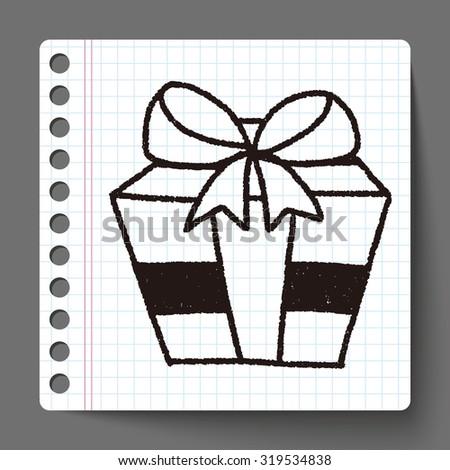 doodle gift - stock vector