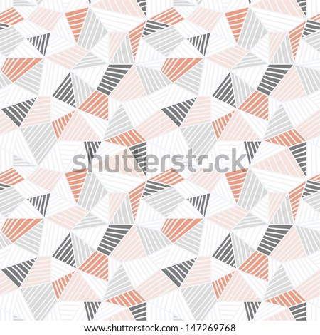 Doodle hand drawn seamless pattern 3 - stock vector