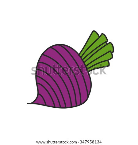 doodle icon. beet. vector illustration
