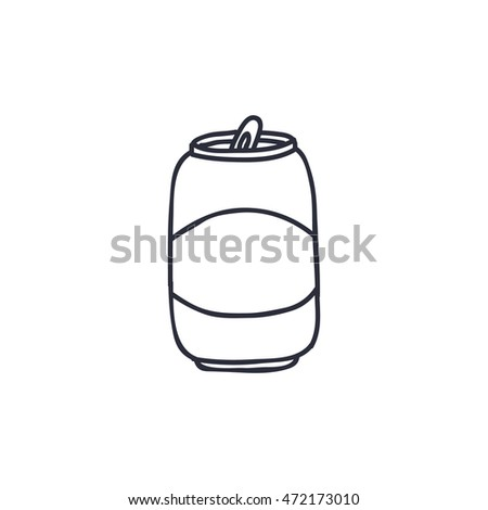 doodle icon. can of beer. vector illustration