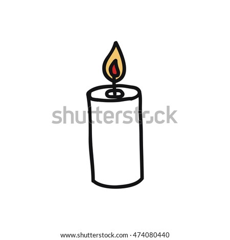 doodle icon. candle. vector illustration