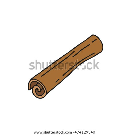 doodle icon. cinnamon. vector illustration