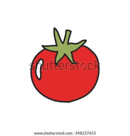 doodle icon. tomato. vector illustration