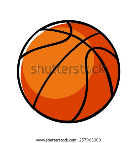 Doodle illustration of a basket ball - stock vector