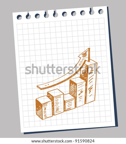 Doodle illustration of business graphic - stock vector