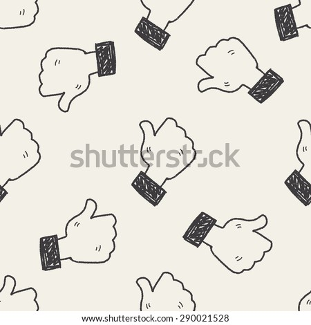 Doodle Like seamless pattern background - stock vector