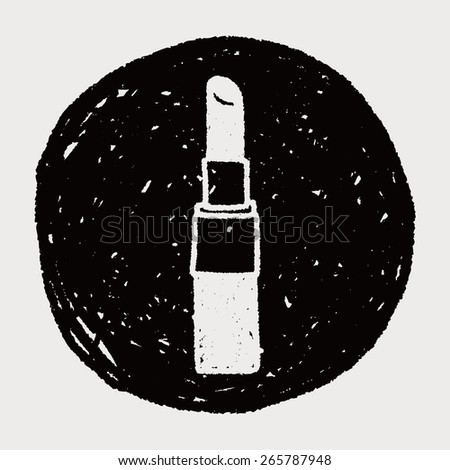 Doodle Lipstick - stock vector