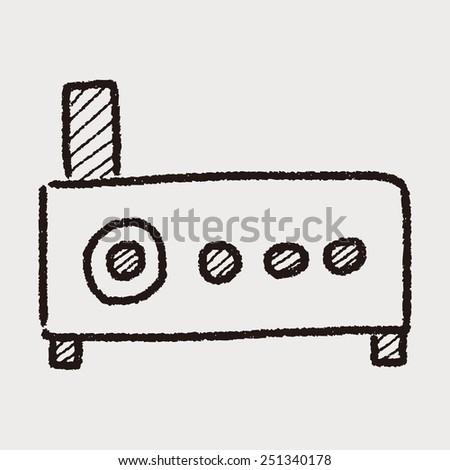doodle modem - stock vector