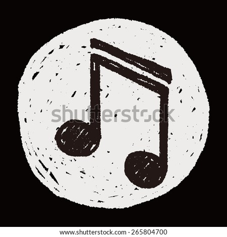 Doodle Note - stock vector
