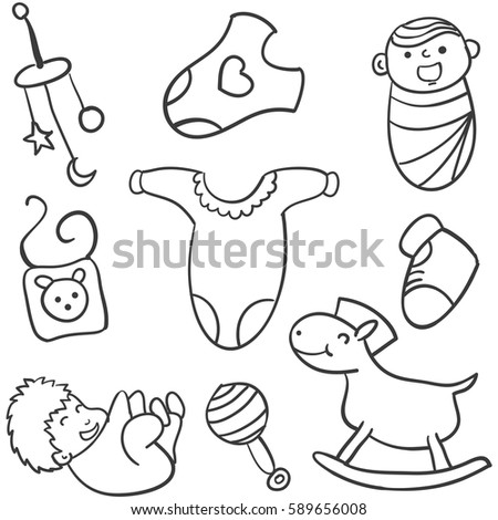 how to draw baby toys