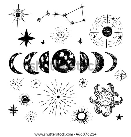 Doodle planets and stars.
