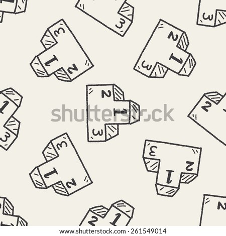 Doodle Podium seamless pattern background - stock vector