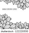 Doodle seamless chestnut leaves background. - stock vector