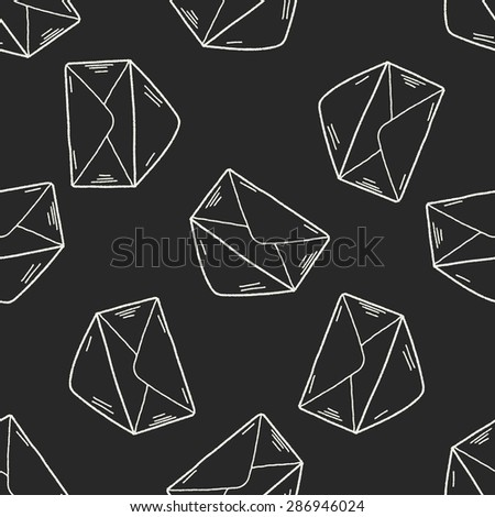doodle send mail seamless pattern background