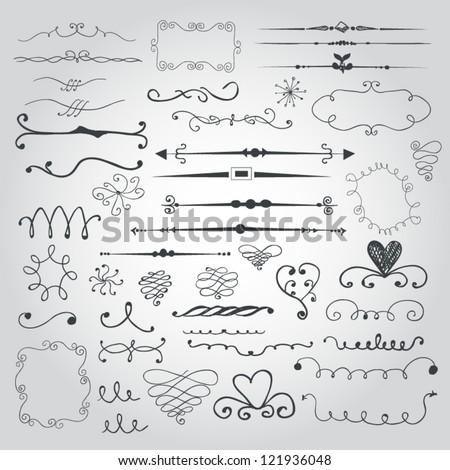 Doodle set - stock vector