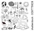 Doodle set - ecoeco, vector illustration. - stock vector
