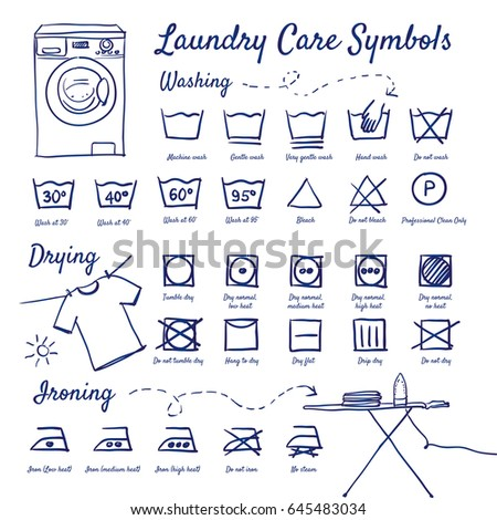 Laundry Care Symbols Image Collections Free Symbol Design Online