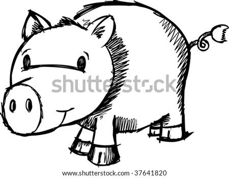 pig sketch stock images  royalty