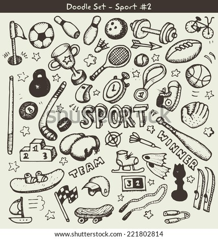Doodle sports. Vector illustration - stock vector