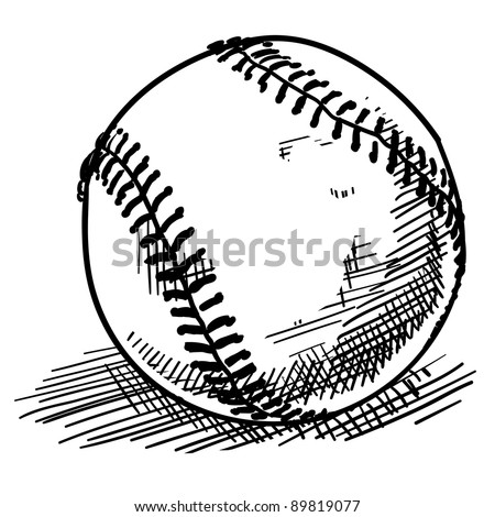 Doodle style baseball sports vector illustration - stock vector