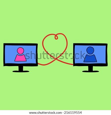 Online blind date