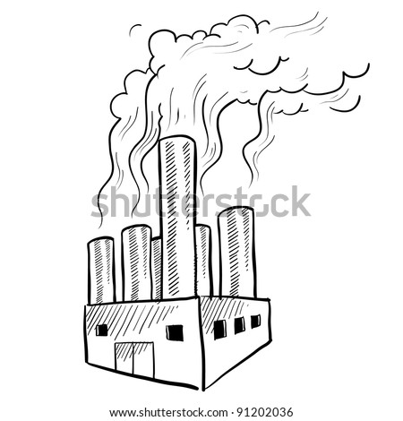 Stock images similar to id 206985907 four old brick for Air pollution coloring pages