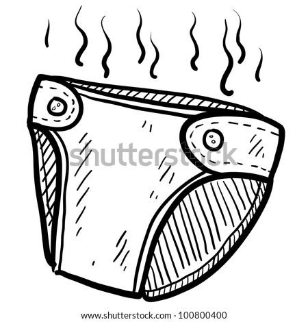 Baby Diaper Illustration Smelly Diaper Illustration