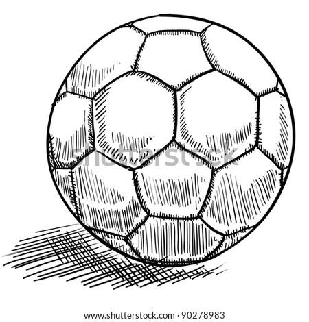 Doodle style soccer or futbol vector illustration - stock vector