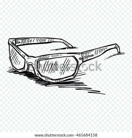 Doodle style sunglasses vector illustration
