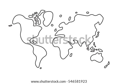 World map line drawing stock images royalty free images vectors doodle style world map gumiabroncs Choice Image