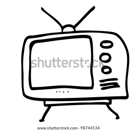 doodle television abstract - stock vector