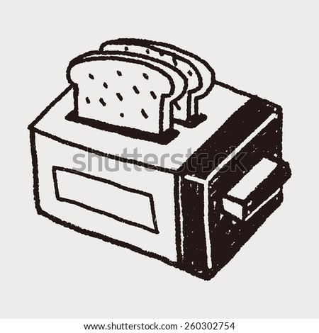 Doodle Toaster - stock vector