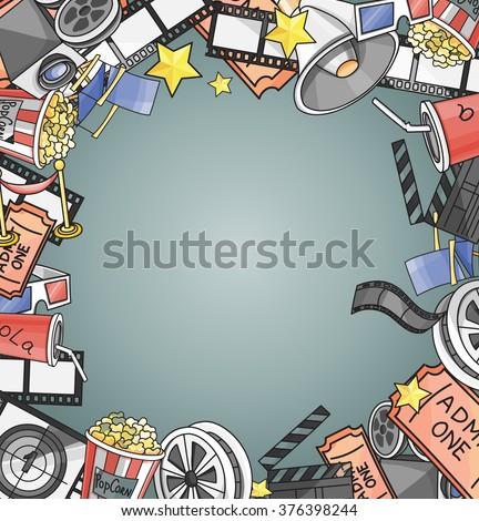 Doodle vector cinema - stock vector
