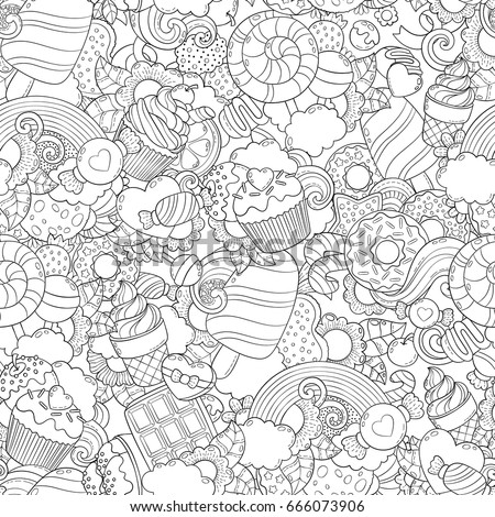 Doodle Vector Illustration Abstract Background Texture Stock Vector ...