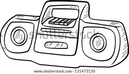 Doodle vector Tape Recorders - stock vector